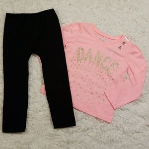 The Children's Place Peach DANCE Outfit 2T NWT